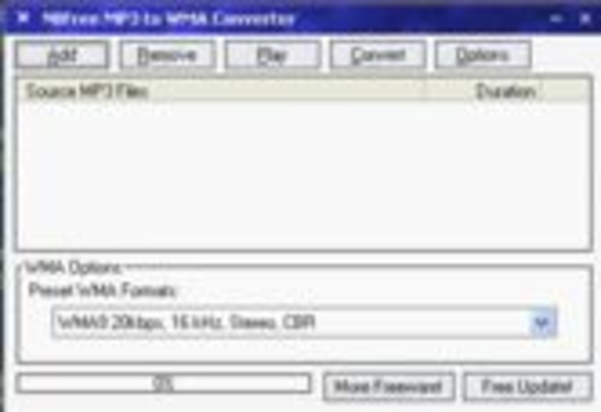 NBFree MP3 to WMA Converter Screenshot 1