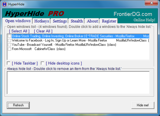 HyperHide Screenshot