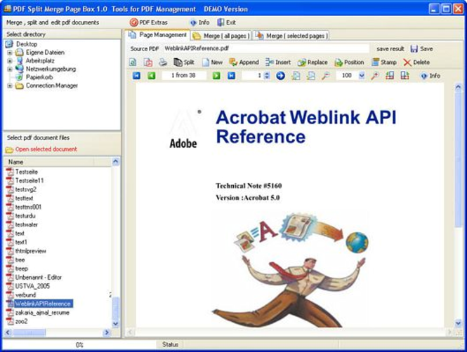 PDF Split Merge Page Box Screenshot