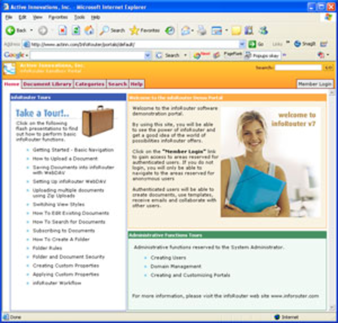 infoRouter Document Management Software Screenshot