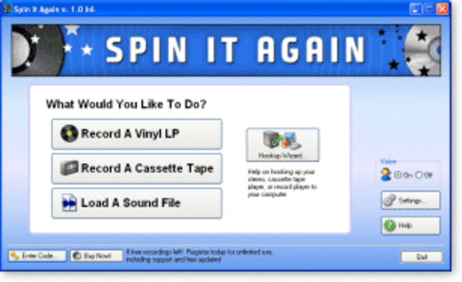 Acoustica Spin It Again Screenshot