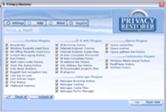 Privacy Restorer Screenshot 1