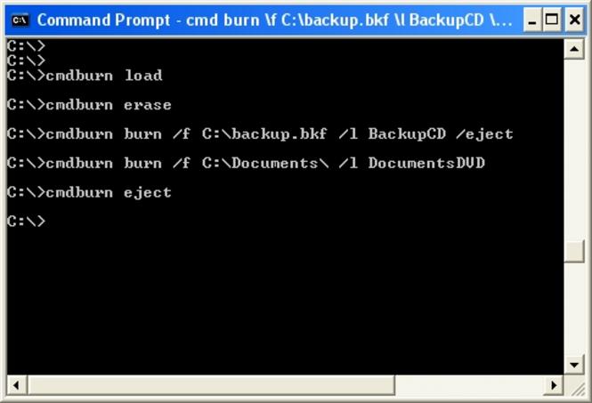CommandBurner Screenshot 1
