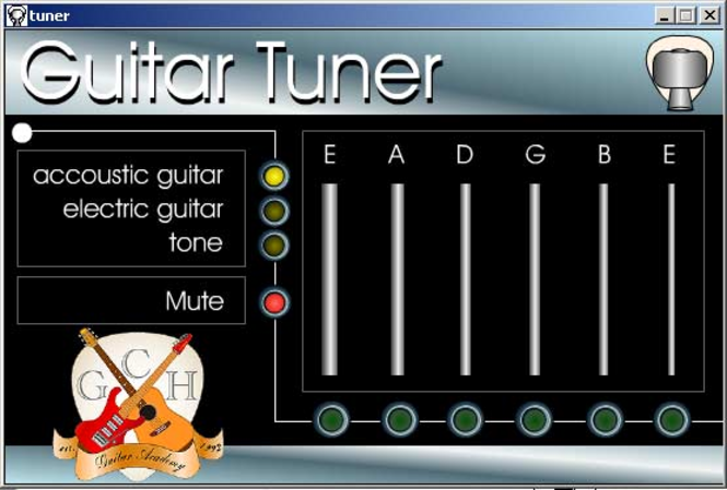 Mac classic Guitar tuner Screenshot