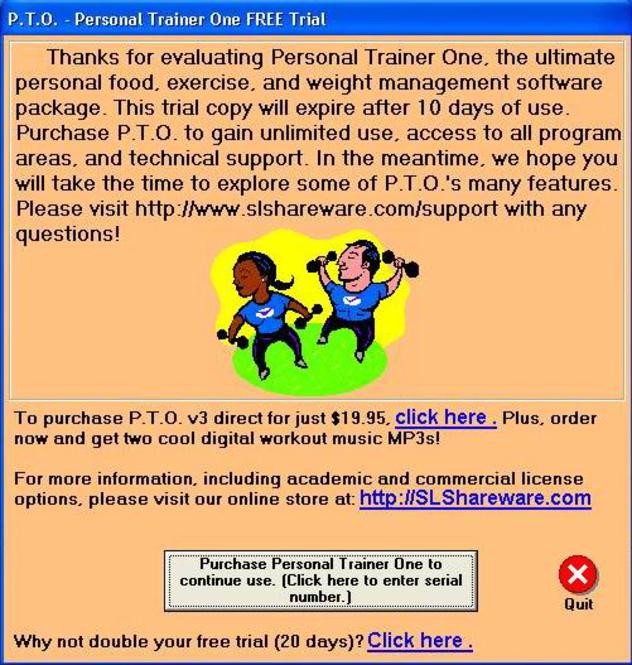 Personal Trainer Screenshot