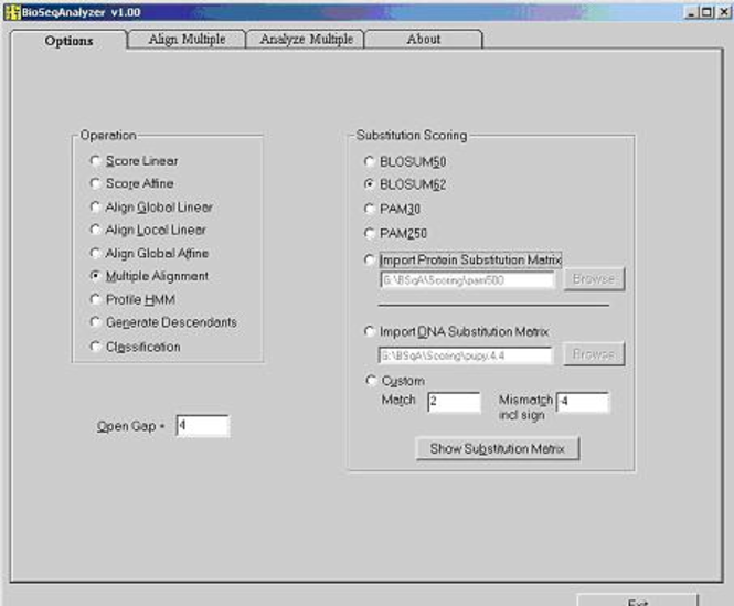 BioSeqAnalyzer Screenshot