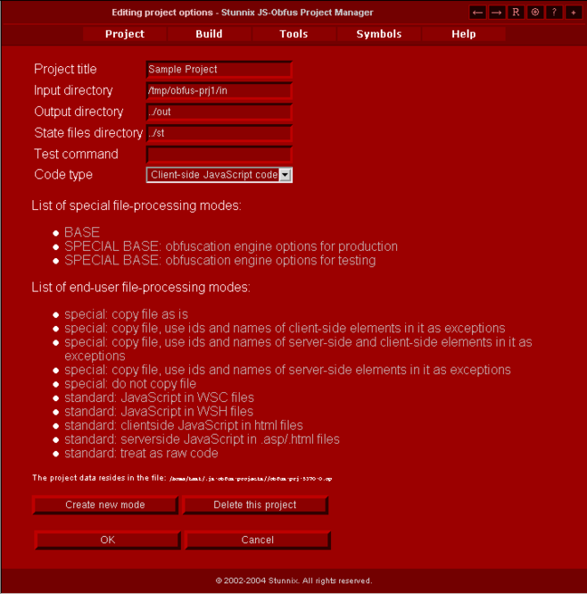 Stunnix Advanced Web Server Screenshot