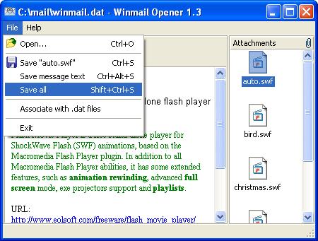 Winmail Opener Screenshot 2