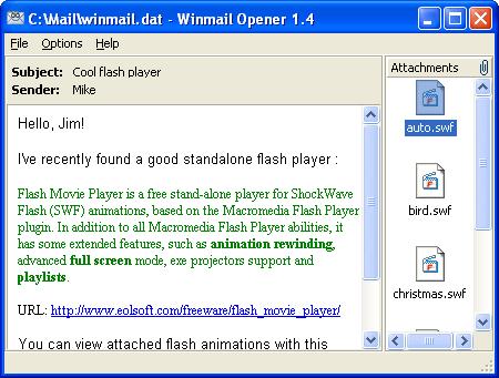 Winmail Opener Screenshot 3