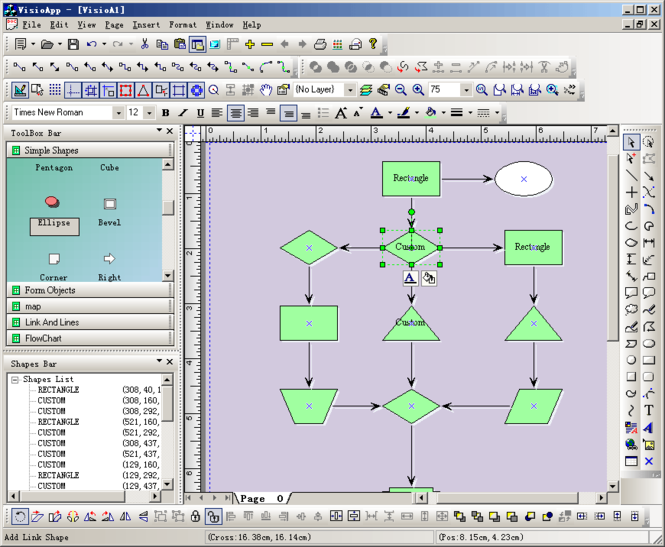 E-XD++ Diagrammer CAD Kit Screenshot