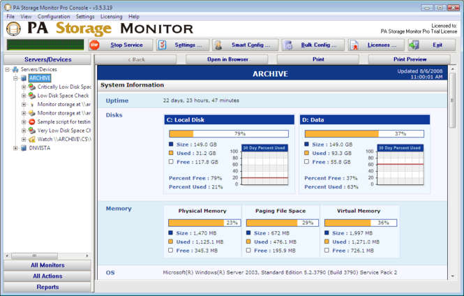 PA Storage Monitor Pro Screenshot 2