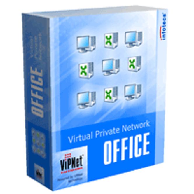ViPNet OFFICE - 2 VPN clients, 1 VPN gateway, 1 open tunneled IP address Screenshot 1