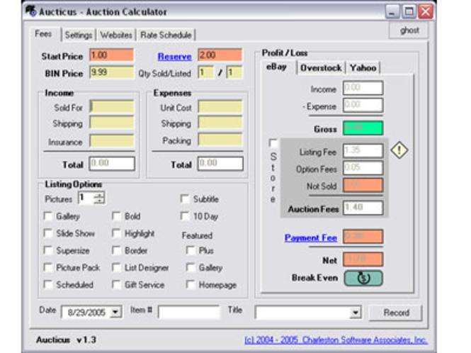Aucticus Screenshot