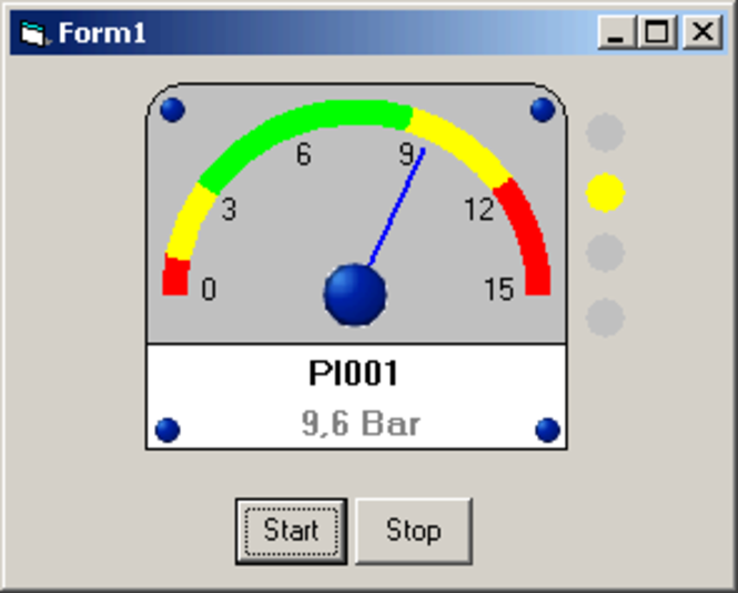ISAX Gauge ActiveX Developer version Screenshot