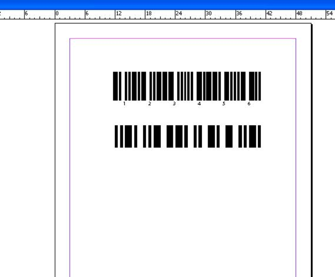 CoolBar bar code plug-in for Adobe InDesign CS2/CS3/CS4 Screenshot