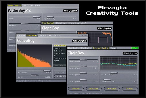 """Elevayta Creativity Tools Bundle"" VST plug-ins Screenshot"