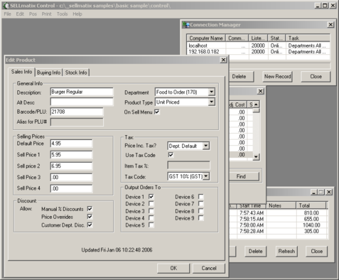 SELLmatix Control Screenshot