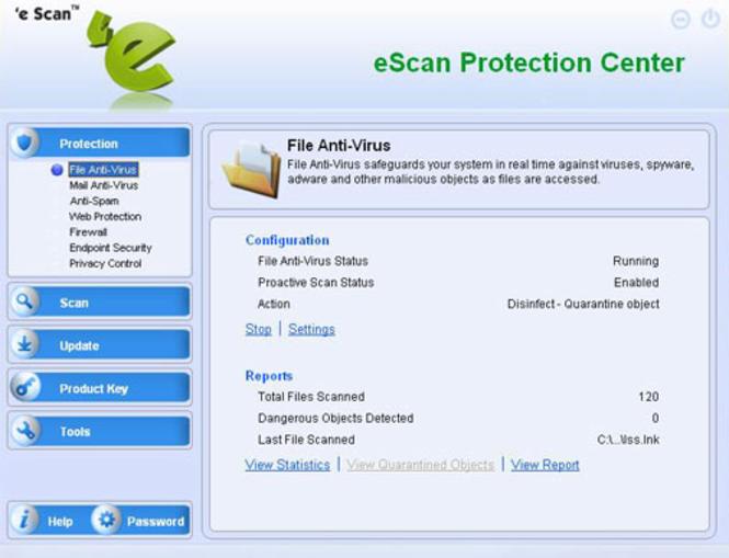 eScan Corporate for Citrix Servers Screenshot