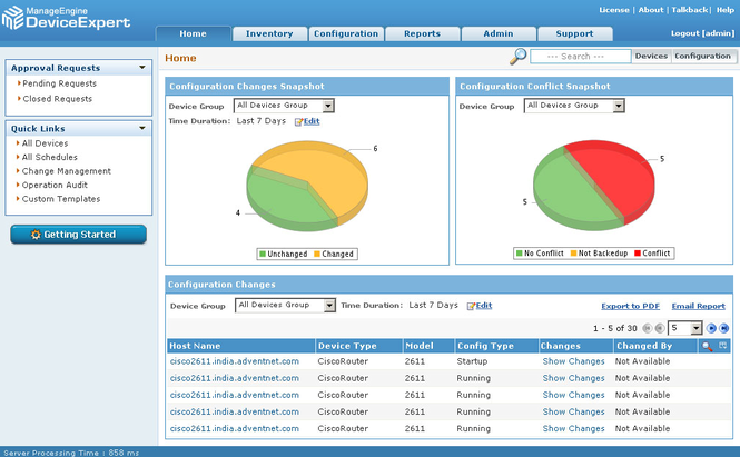 ManageEngine DeviceExpert(Network Configuration Management) Screenshot