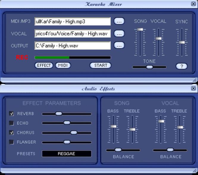 Karaoke Mixer Screenshot 1