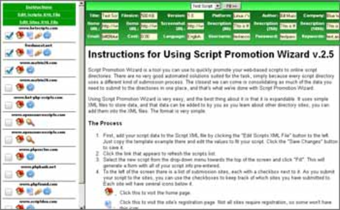 Script Promotion Wizard Screenshot