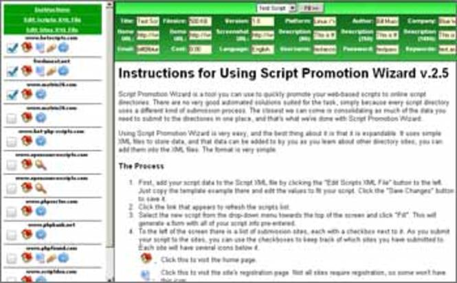 Script Promotion Wizard Screenshot 1
