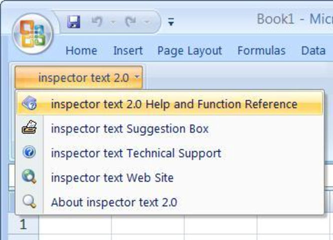 inspector text Screenshot