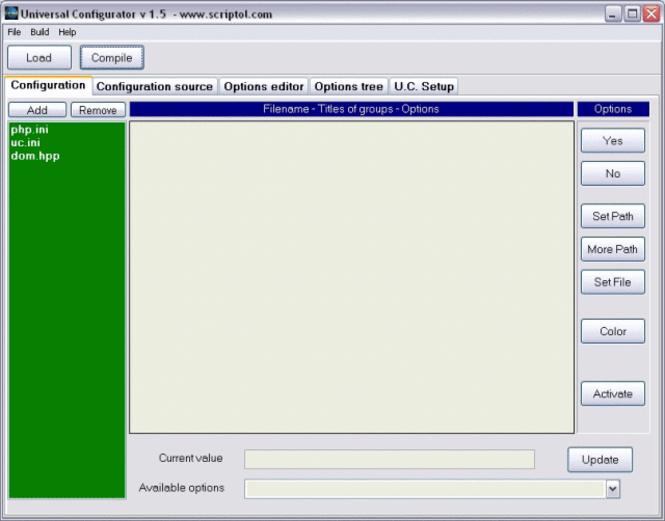 Universal Configurator Screenshot 1