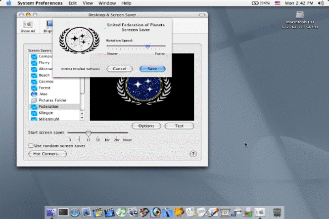 Federation Screen Saver Screenshot 1