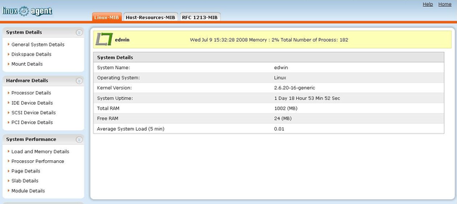 WebNMS SNMP Agent For Linux Screenshot