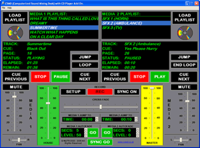 CSMD (Computerised Sound Mixing Desk) Screenshot 1