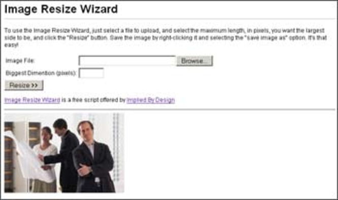 Image Resize Wizard Screenshot