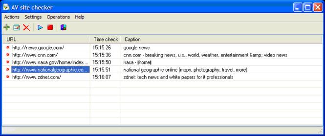 AV Site Checker Screenshot