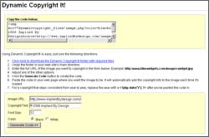 Dynamic Copyright It! Screenshot 2