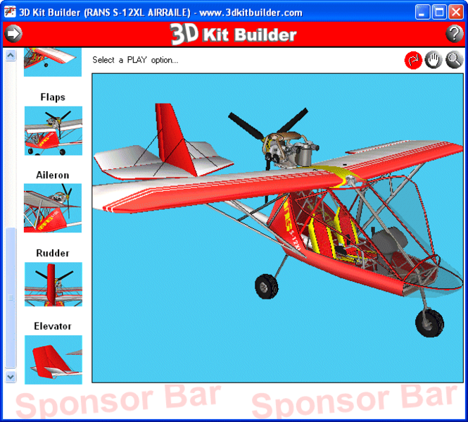 3D Kit Builder (RANS S-12XL AIRAILE) Screenshot