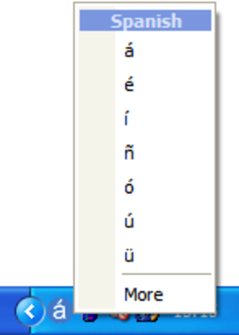 Type International Characters Screenshot