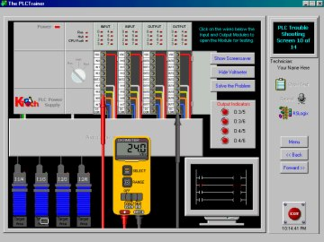 PLC Training - RSlogix Simulator Screenshot