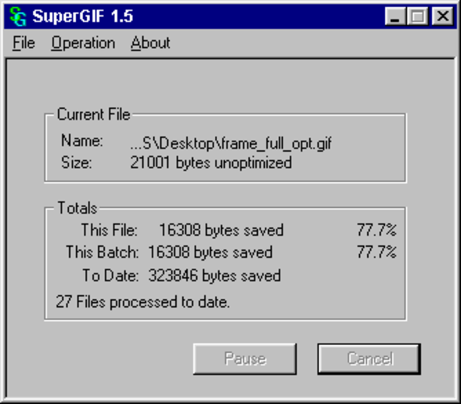 SuperGIF for Windows Screenshot