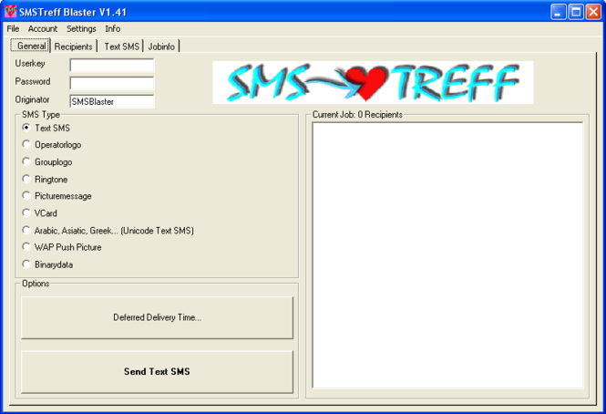 SMS Flirt Blaster Screenshot 1