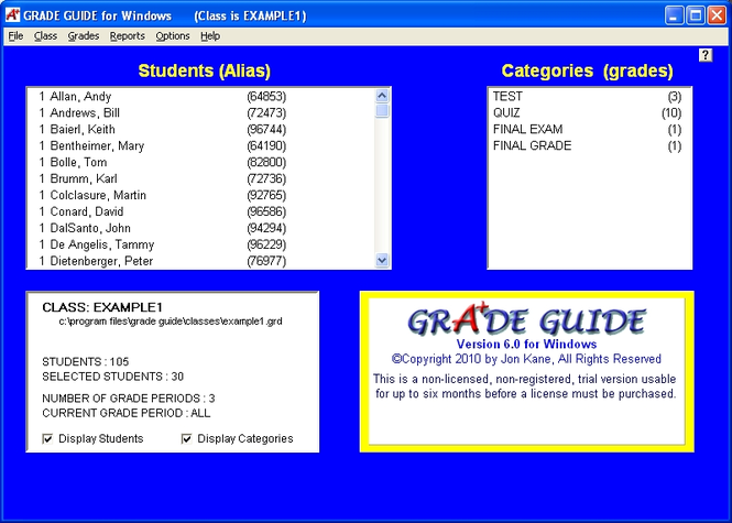 GRADE GUIDE Screenshot