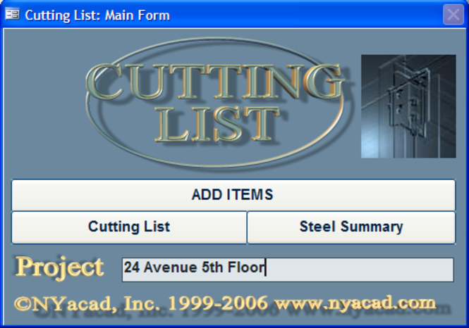 Cutting List Screenshot