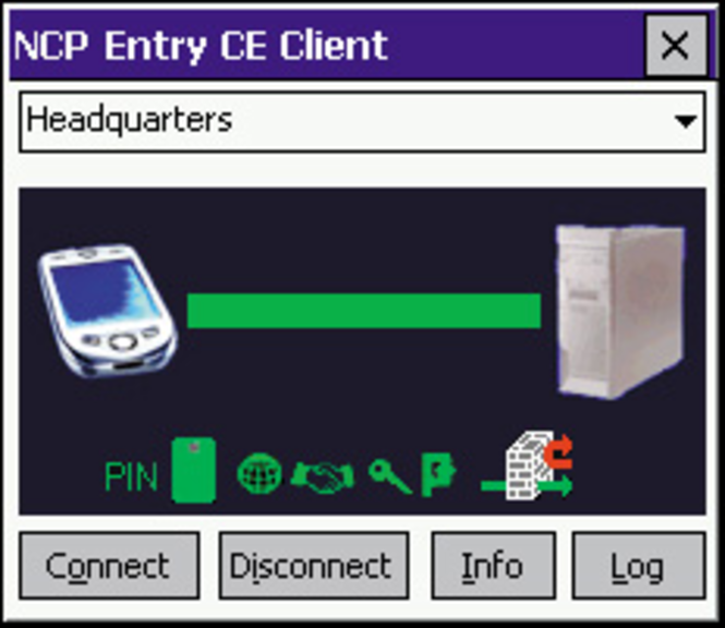 NCP Secure Entry CE Client Screenshot 2