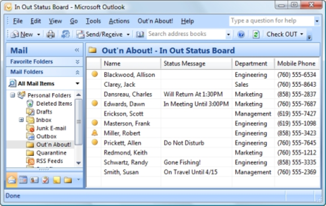 Out n About! for Outlook Screenshot