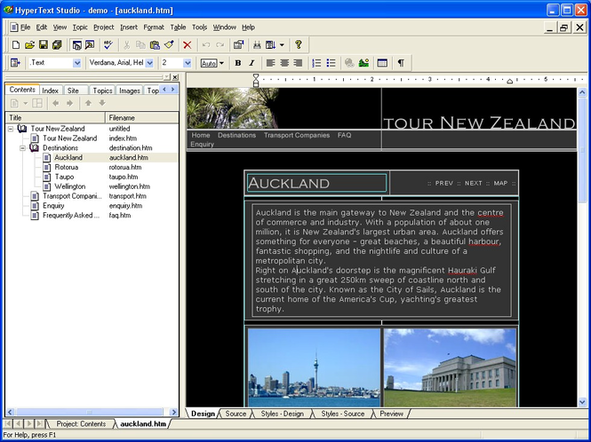 HyperText Studio, Help Edition Screenshot 1