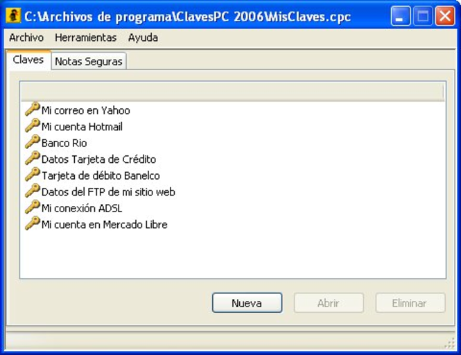 ClavesPC Screenshot 1