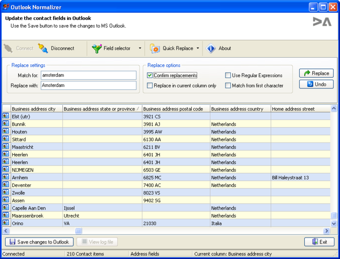 OutlookNormalizer Screenshot
