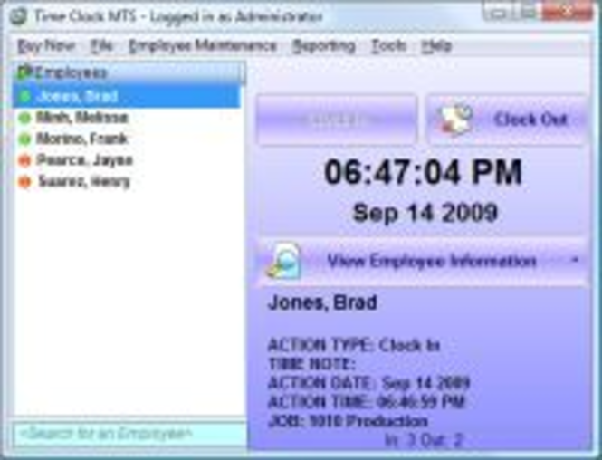 Time Clock MTS Screenshot 1