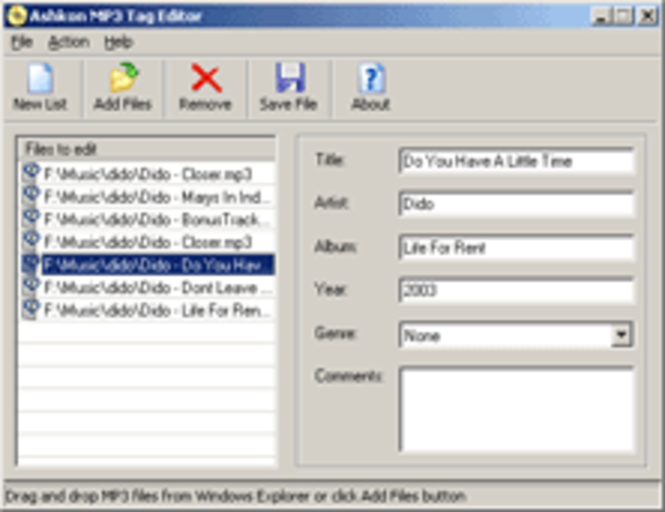 Ashkon MP3 Tag Editor Screenshot