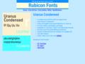 Uranus Condensed Font Type1 1