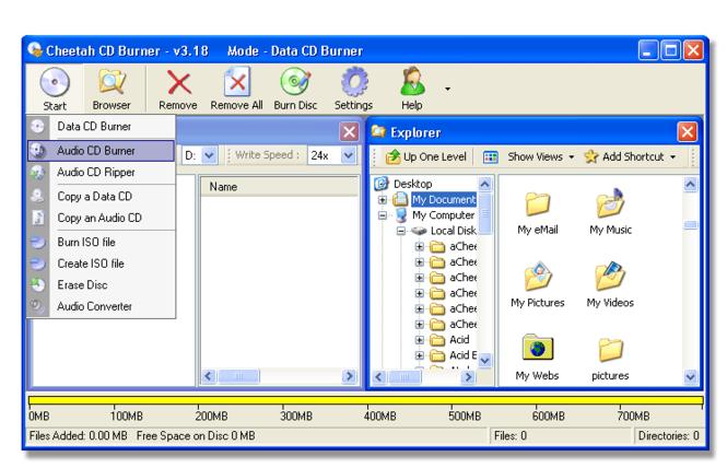 Cheetah CD Burner Screenshot